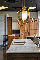 modern light fixtures over kitchen island
