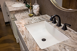 elegant bathroom countertops