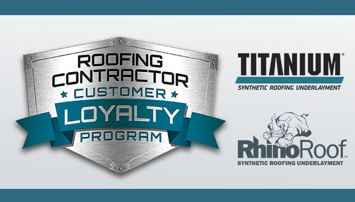 Titanium and RhinoRoof Roofing Contractor Customer Loyalty Program