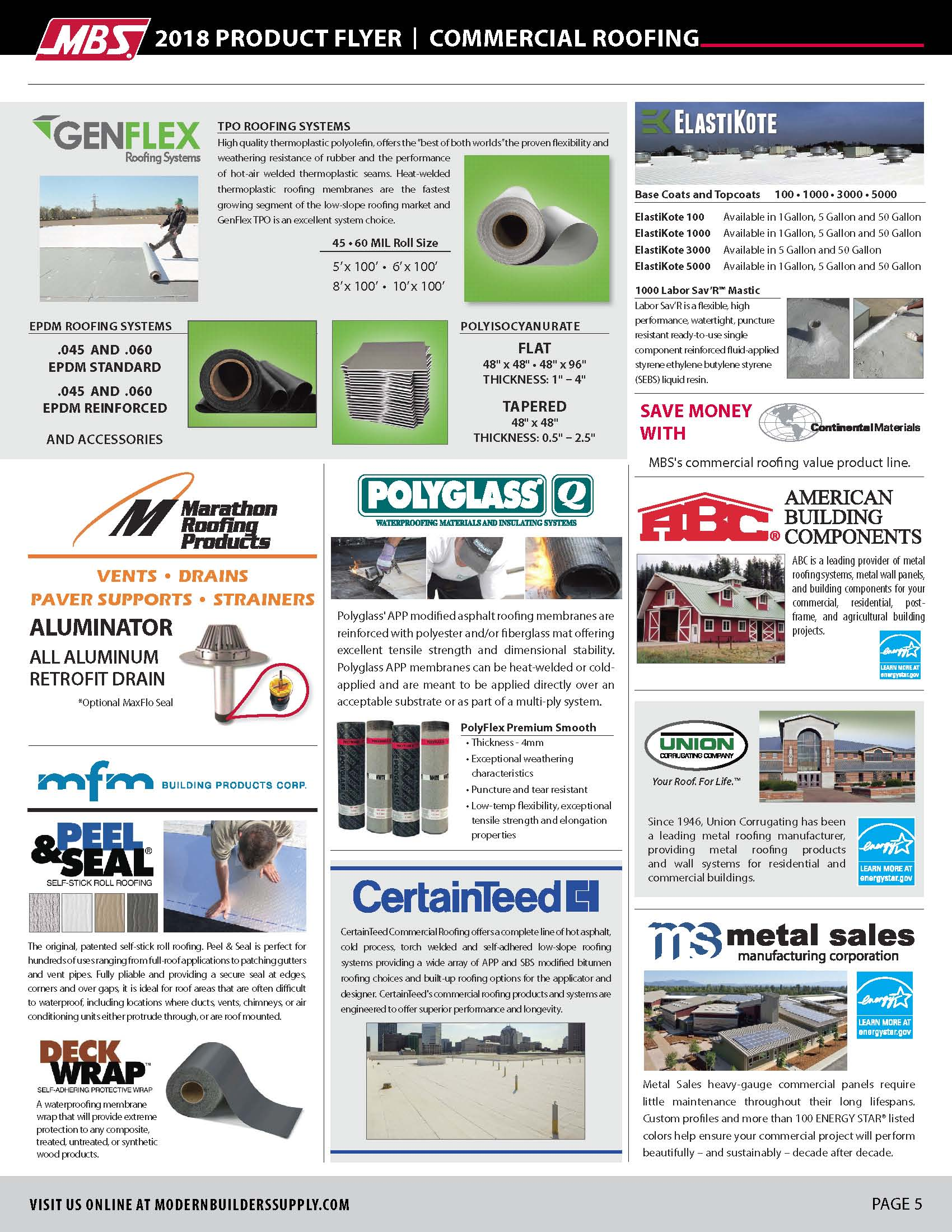 commercial roofing flyer